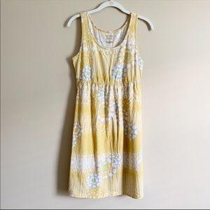 SONOMA / yellow flowered tank dress / medium
